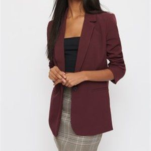 BURGUNDY WATERFALL BLAZER